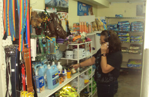 Pet food in pet supply store